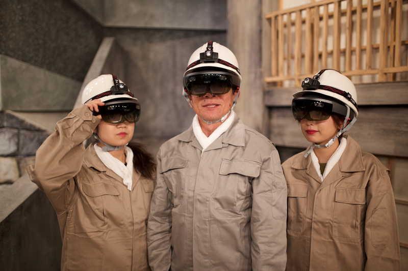 長崎県「軍艦島ミュージアム」でMR(複合現実)常設展示を開始、マイクロソフト・ホロレンズ装着で炭坑員体験も【動画】