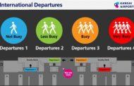 関西国際空港、出国時の保安検査場の「予想待ち時間」を表示、IT活用で
