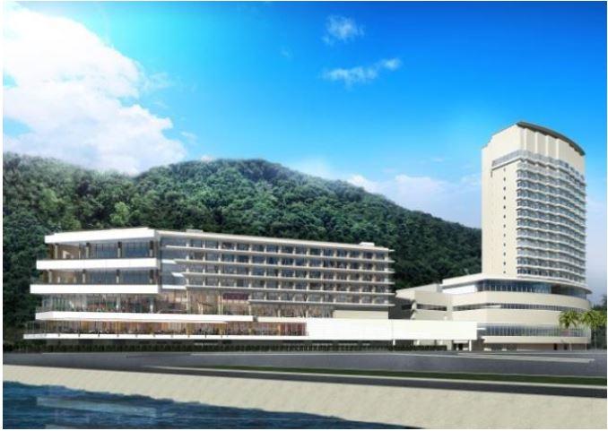 熱海後楽園ホテルを中心に新リゾートを再開発、日帰り温泉や飲食店など街として、東京ドームのノウハウで