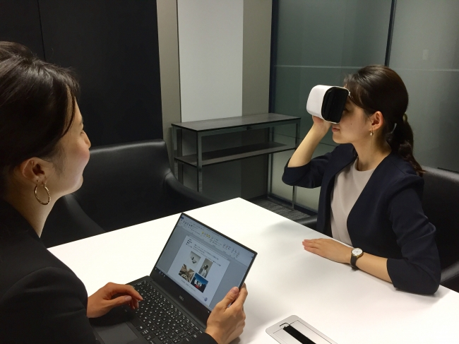 JAL、VR活用で海外法人営業、オフィスで座席・機内食・乗務員サービスを仮想体験