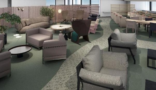 成田空港に航空会社の共用ラウンジ、空港運営で初めて、和風の内装でハラール食も