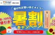 最高気温で割引額が決まるレンタカー予約キャンペーン、「たびらい」がバジェットレンタカーと、全国21道府県で