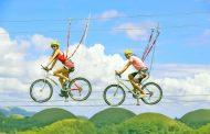 フランス発祥「Xtrem Aventures」が日本上陸、長野県白馬の栂池高原スキー場に、空中自転車綱渡りなど9つのアクティビティで