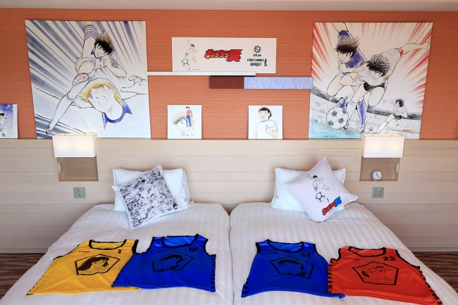 サッカー漫画「キャプテン翼」のホテル客室、東京ベイ東急ホテルが限定販売、2名1室1万1600円から