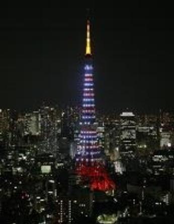 東京タワーとエッフェル塔が特別ライトアップ、「日仏交流160年記念」で