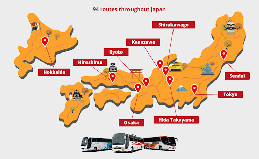 高速バスの「訪日客向け乗り放題パス」を拡充、アジア圏の旅行者に使いやすく、通年販売など
