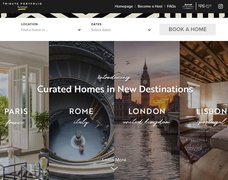 マリオット、欧州各都市でホームシェア事業を拡充、先行プロジェクトはホテルの泊数より2倍以上と好評