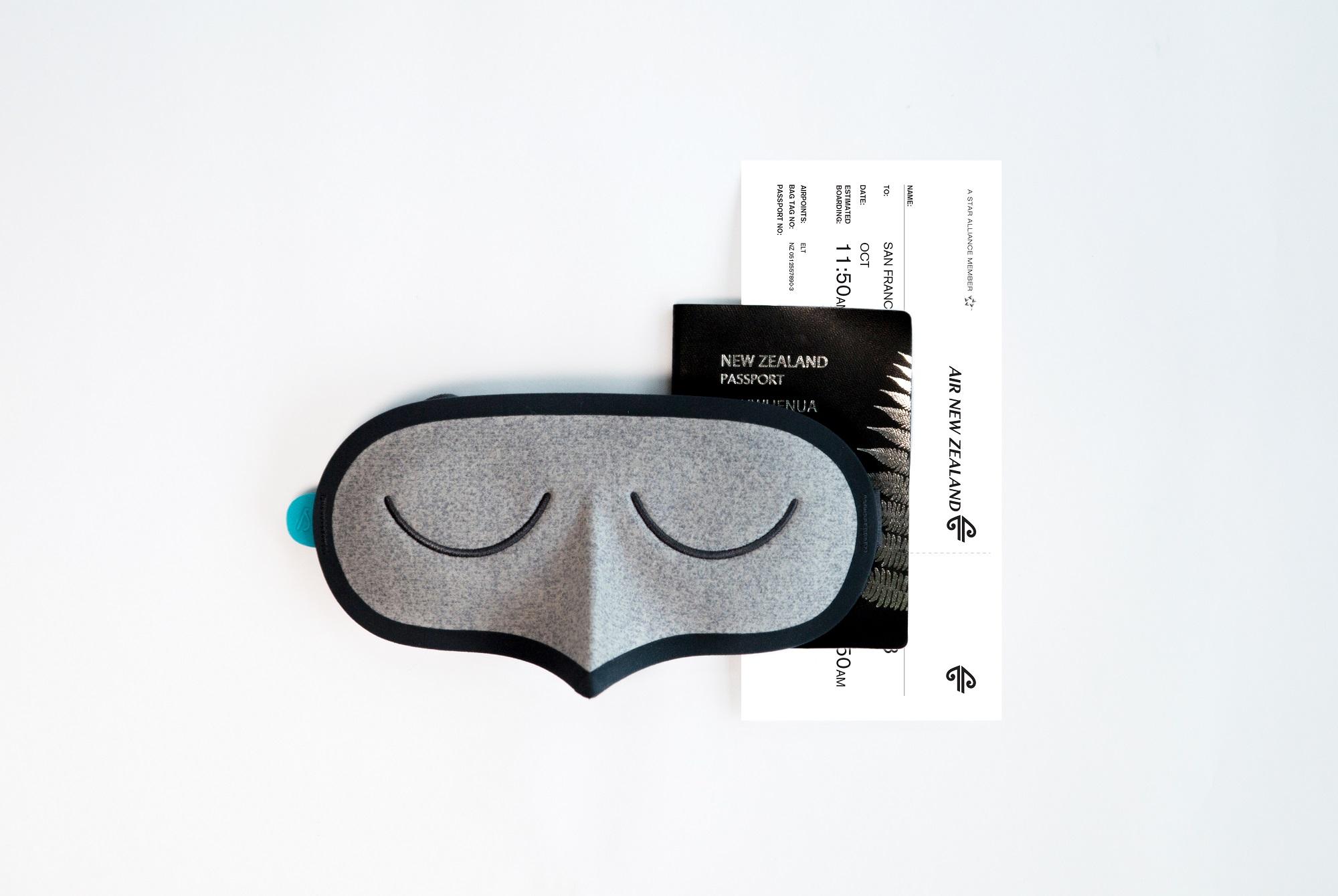 ニュージーランド航空、北米路線で「快眠」追求するアイマスク、上級座席で提供開始
