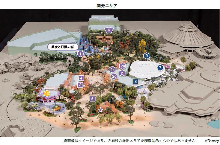東京ディズニー、新規開業施設の名称を発表、美女と野獣「魔法のものがたり」など、2020年春の大規模開発で