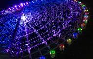 高さ日本一の大観覧車でイルミネーション、回廊やゴンドラを約4万球のLEDでライトアップ【写真】