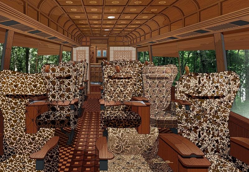 クラツーが水戸岡氏デザインのバスツアー、首都圏に初登場、定員17名で「みちのく名湯めぐり6日間」が28万円から34万円など