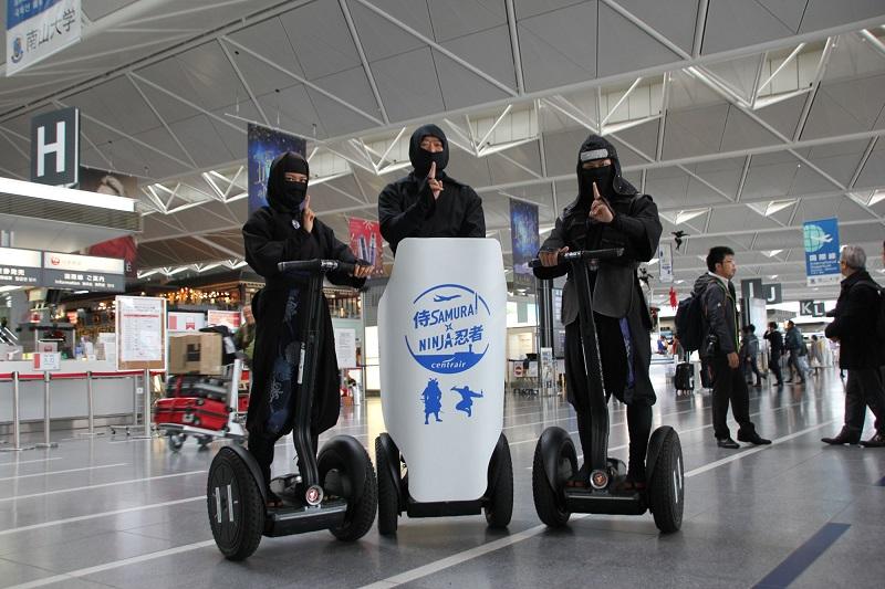 空港を「忍者」がガイドするセグウェイツアー登場、中部国際空港で、NINJAツーリズムで外国人観光客に日本の魅力発信で