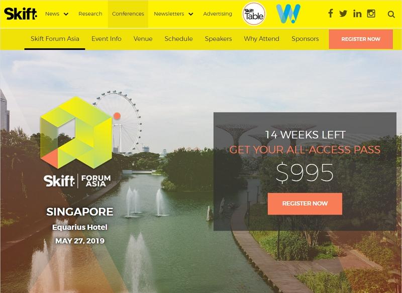 旅行デジタルの国際会議「スキフトフォーラム・アジア」、5月にシンガポールで開催【トラベルボイス読者割引あり】(PR)