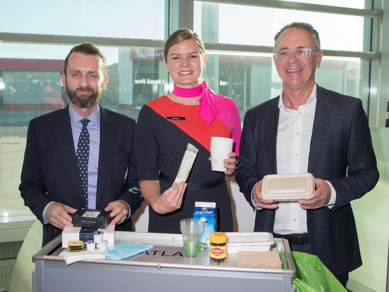 カンタス航空、廃棄物ゼロのフライトを実現、2021年までに廃棄物75%カットへ