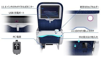 ANA、国内線で個別モニター付き新シート導入へ、プレミアム・普通席の全席で