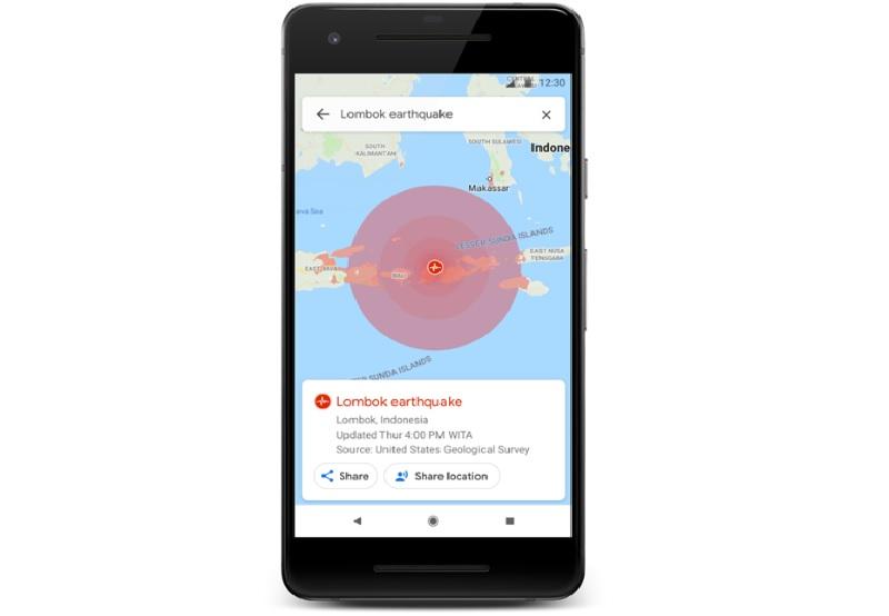 Googleマップが災害情報の提供強化、地震や台風時にビジュアル情報や新たな警告システムを追加