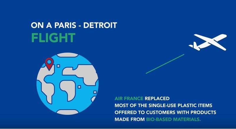 エールフランス航空、全フライトでプラスチック製品廃止、環境配慮で2019年末までに