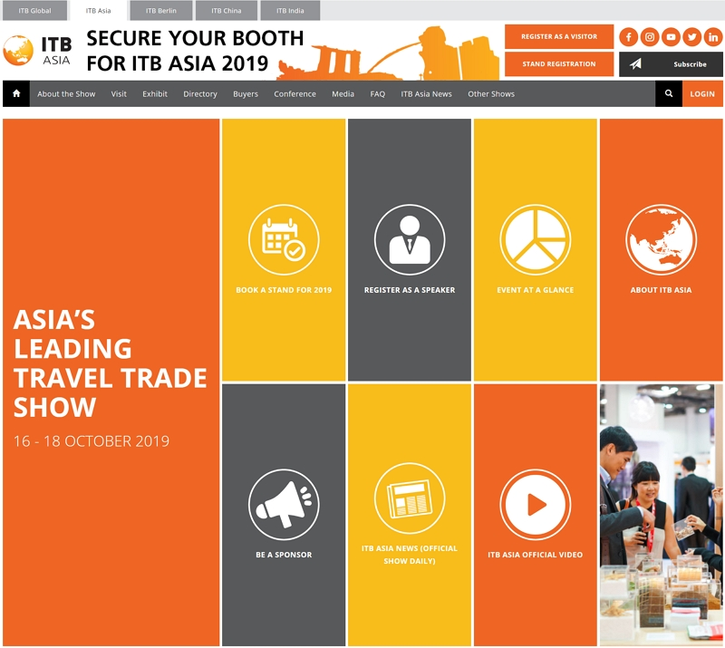 旅行・観光産業界のB2B見本市「ITBアジア」、10月にシンガポールで開催、MICE特化イベントと同時に(PR)