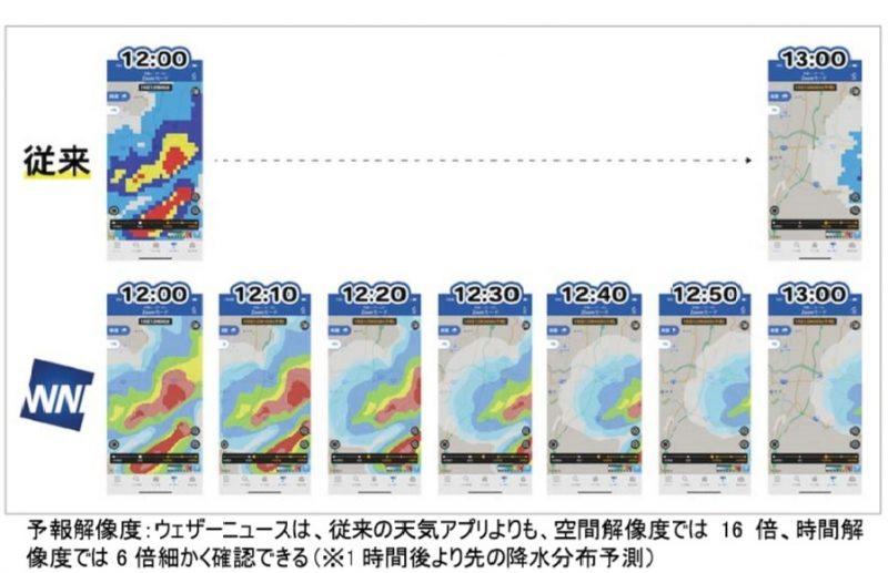 天気アプリ「ウェザーニュース」、企業向けにアプリ情報を販売開始、高解像度雨雲レーダーや災害時アラームなど