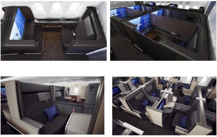 ANA、国際線上級クラスに新シート導入、ビジネス席はドア付き個室、機内は隈研吾氏の監修で