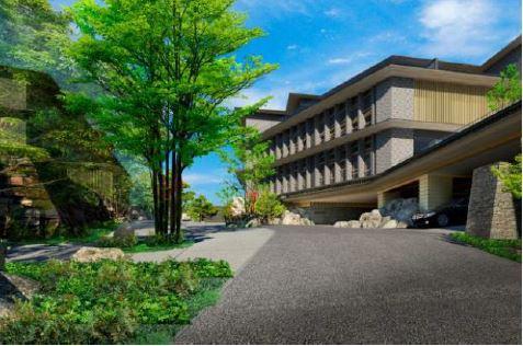 オリックス不動産、箱根・強羅に新たな温泉旅館を開業へ、全70室に露天風呂付きで2020年秋に