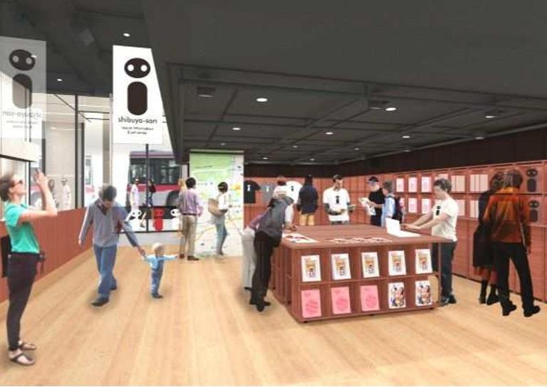 渋谷に新感覚の観光情報センター、コンシェルジュは外国人留学生、アートや文化も発信