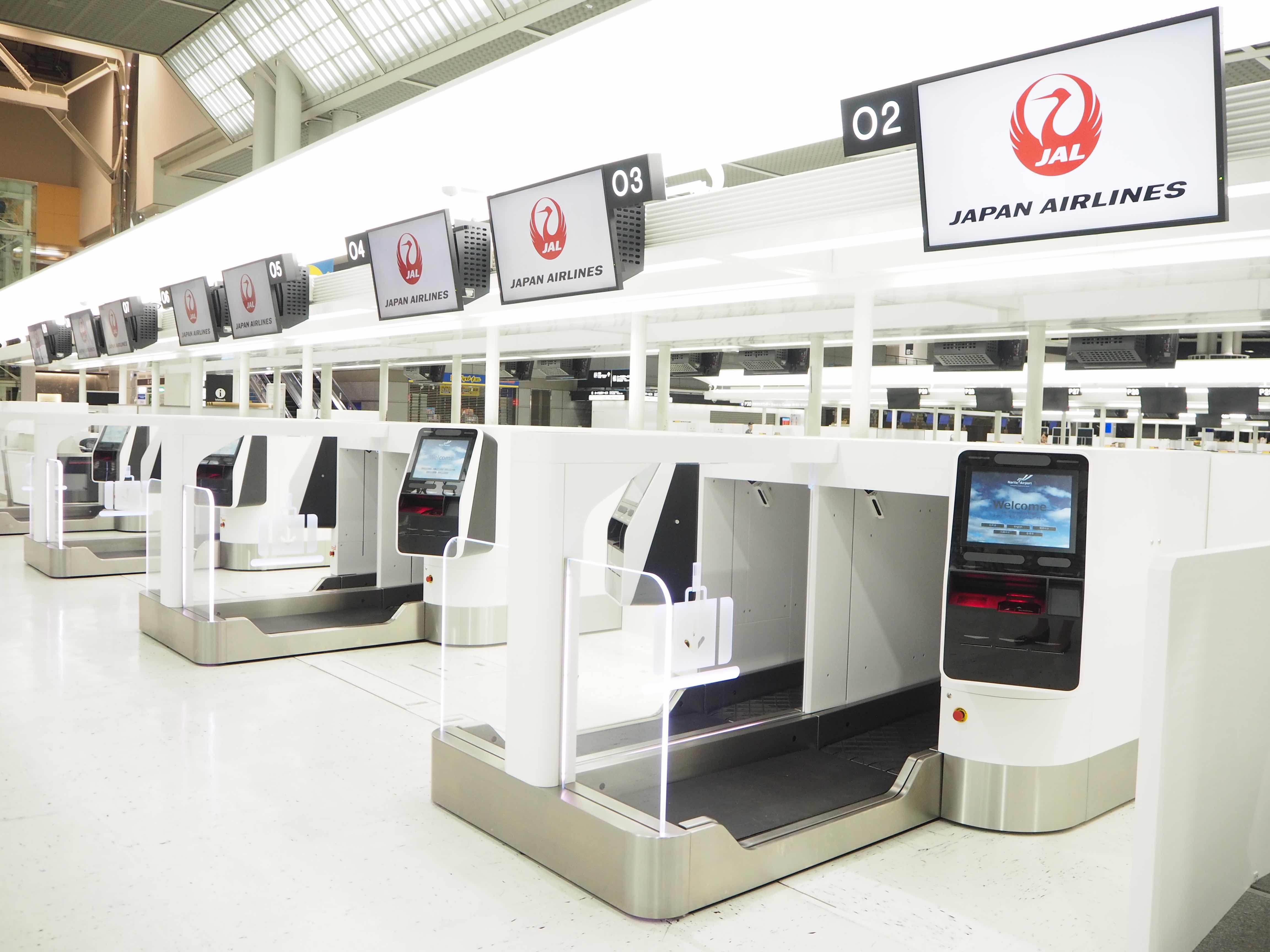 JAL、成田で顔認証チェックインなど開始へ、自動手荷物預け機の導入などスマート化を展開