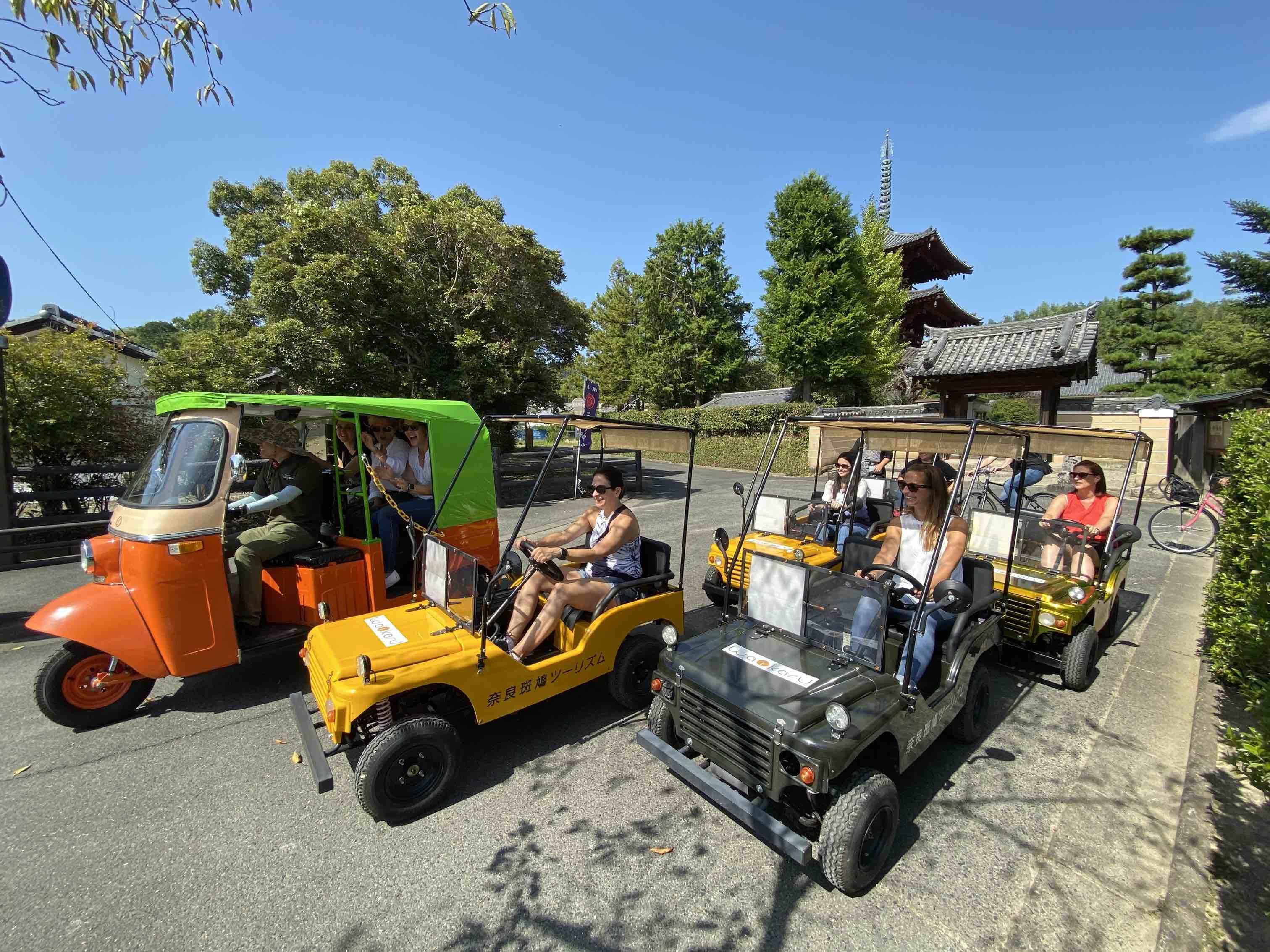 法隆寺をトゥクトゥクで巡るツアーが登場、奈良県斑鳩町の史跡・名所を、地元観光案内所が提供