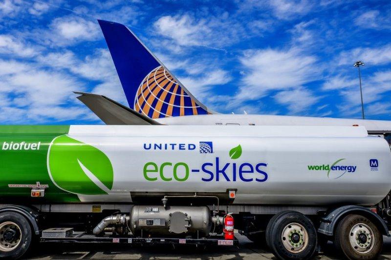 ユナイテッド航空、脱炭素化へ4000万米ドルを投資、2050年までにCO2排出量を半減へ