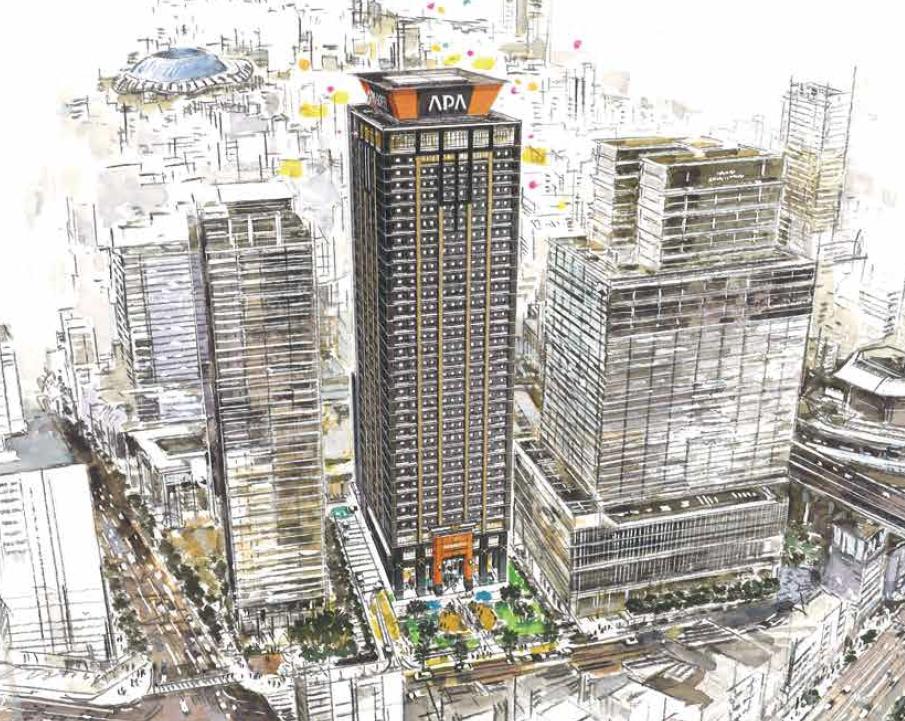 アパグループ、大阪「難波」に大型ホテル用地を取得、34階建て客室数2064室で2023年開業へ