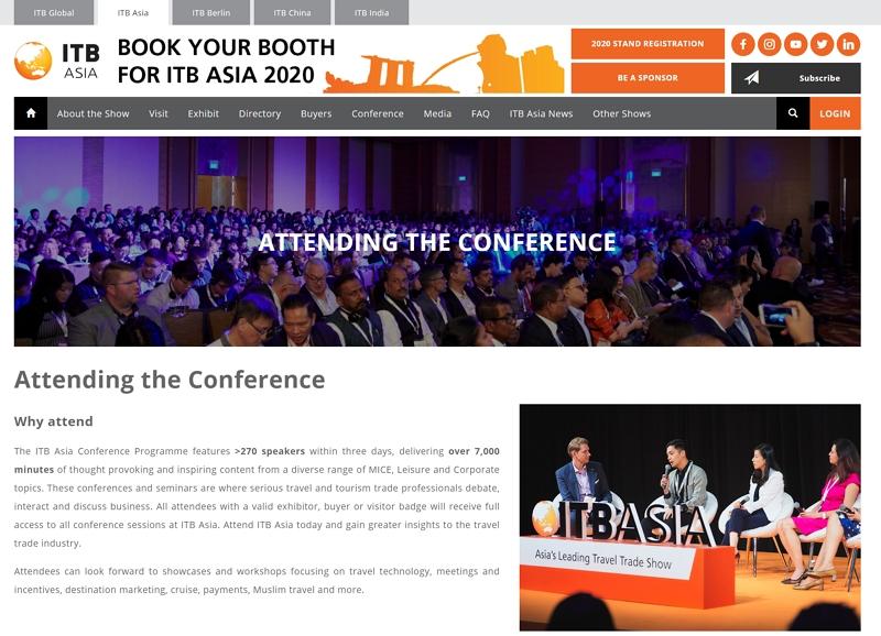 旅行業界のBtoB見本市「ITBアジア」、今年は「タビナカ」のカンファレンス新設、2020年10月開催