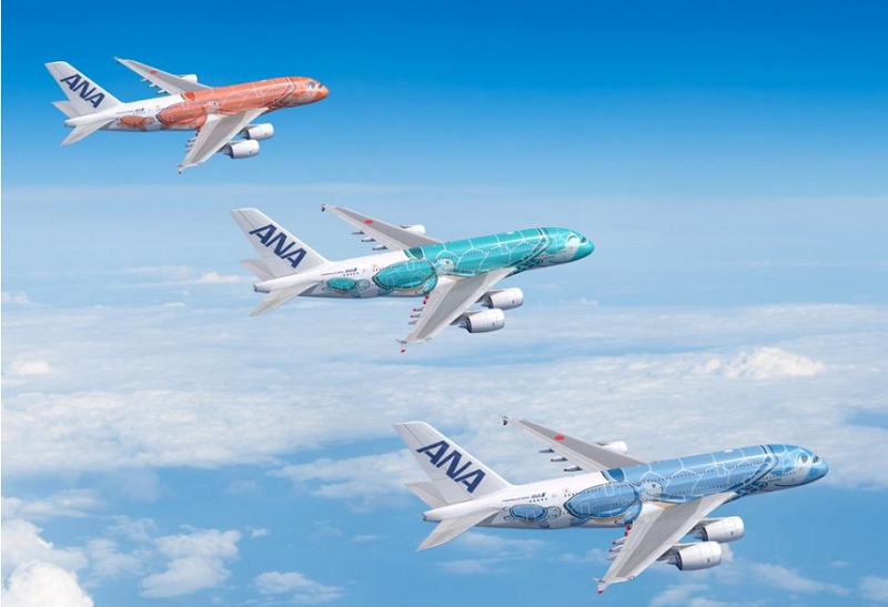 ANA、A380運航の成田/ホノルル路線を週14往復に拡大、「サンセットオレンジ」の新機体も登場