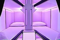 ニュージーランド航空、エコノミー席に個室型の睡眠空間を発表、来年の本格導入へ