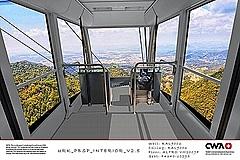 六甲有馬ロープウェーに日本初の新ゴンドラ誕生、360度の自然を見渡す展望シート配置、3月20日から