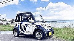 出光興産、千葉県館山市で超小型EVのカーシェアリング実施、再生可能エネルギーをワイヤレス充電