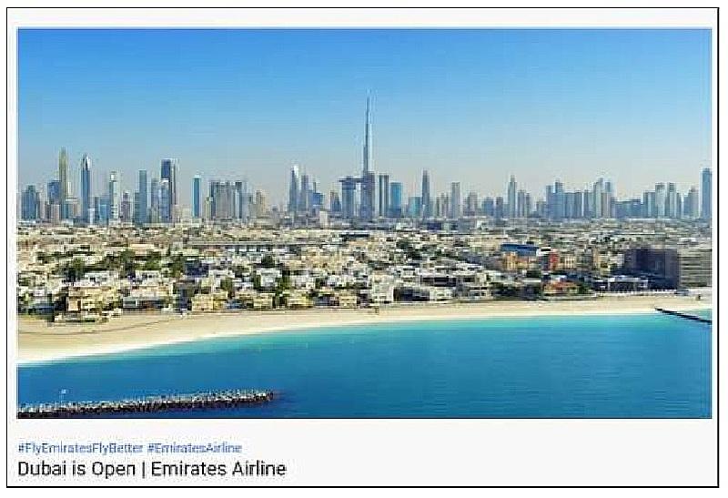ドバイ、7月7日から外国人観光客受け入れ、エミレーツ航空「世界中の旅行者歓迎」、日本線は再開未定
