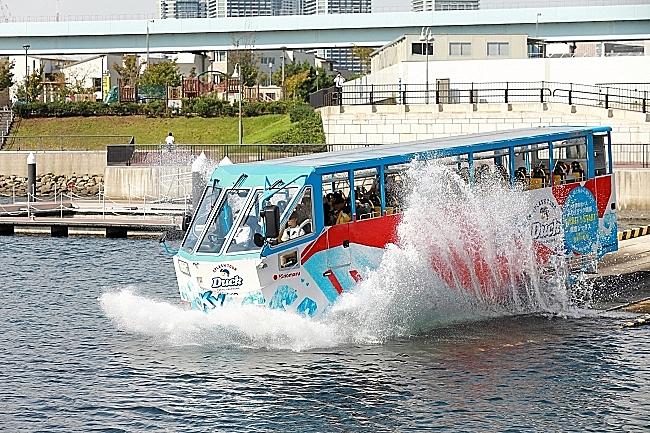 日の丸自動車が東京と横浜で地元再発見キャンペーン、オープンバスと水陸両用バスのツアー割引実施
