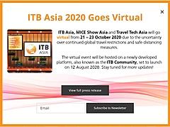 旅行業界のBtoB見本市「ITBアジア」、今年はバーチャル開催に変更、10月に、MICE・トラベルテックと併催で(PR)
