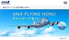 ANA、夏休みにA380「FLYING HONU」飛行体験を販売、2時間の成田発着でファーストクラス席5万円