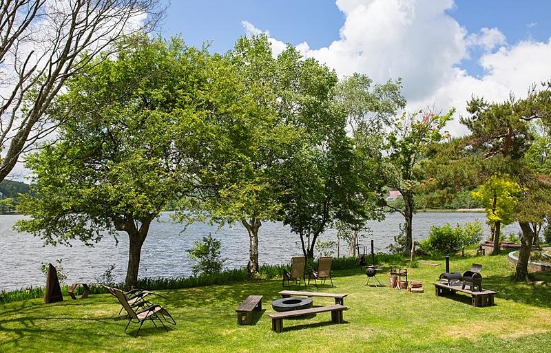 白樺湖の湖畔に新施設、池の平ホテルがテントサウナやたき火ができるプラン