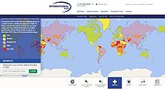 新型コロナのリスクを可視化する世界マップが登場、国別に分野別に表示、「医療」「安全性」「ロジスティックス」などで