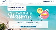 ANAセールス、ハワイ旅行の販売再開、コロナ対策徹底で来年1月出発分から