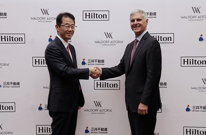 ヒルトン最上級ブランド「ウォルドーフ・アストリア」が日本初進出、2026年に東京・日本橋に開業へ、複合施設の上階9フロアで全197室