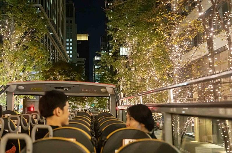星のや東京、宿泊者限定で東京絶景ナイトバスクルーズ、座席に湯たんぽ、こたつ布団