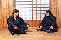 Odawara City, Kanagawa Prefecture, deliver live Ninja experience in Japanese and English to guide martial arts