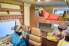 貸しキャンピングカー車中泊+スキーリフト券のプラン販売、福島県アルツ磐梯で、最大72%割引で