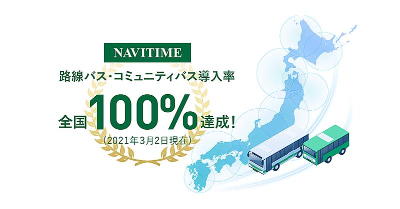 ナビタイム、全国コミュニティバスのルート検索も可能に、路線バスなどカバー率100%に
