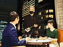 メズム東京、ホテル客室で深夜24時までコース料理を楽しむ日帰りプラン、最大3時間、1室2名で3万9800円