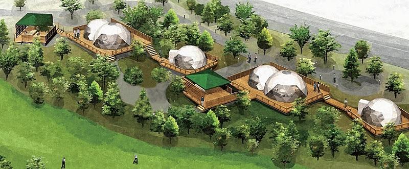 ゴルフ場にグランピング施設をオープン、北海道・室蘭ゴルフ俱楽部に、夕食はフレンチBBQ