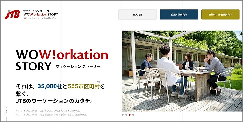 JTB、法人向けワーケーション情報サイト開設、企業と地域をつなぐ
